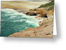 Beautiful Shore Of Nazare, Portugal Greeting Card