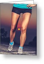 Beautiful Sportive Womens Legs Greeting Card