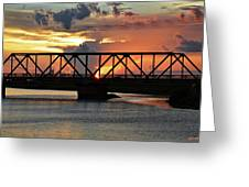 Beautiful Sunset Bridge  Greeting Card