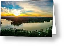 Beautiful Sunset Over Lake Wylie South Carolina Greeting Card