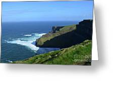 Beautiful Sweeping Views Of Ireland's Cliff's Of Moher Greeting Card