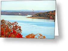 Beautiful View Of The Hudson River 1 Greeting Card