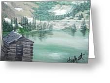 Beautiful Water Cabin Greeting Card