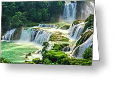 Beautiful Waterfall Crystal Waters Greeting Card