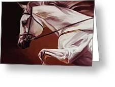 Beautiful White Running Horse 9iu Greeting Card