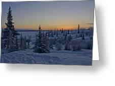 Beautiful Winter Sunrise Greeting Card