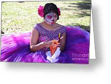 Beautiful Woman Day Of Dead IIi Greeting Card
