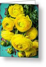 Beautiful Yellow Ranunculus Greeting Card