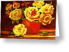 Beautiful Yellow Roses Greeting Card