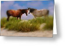 Beauty And Friendship Greeting Card