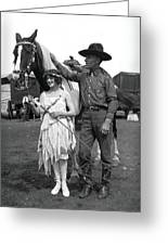 Beauty And The Cowboy Greeting Card