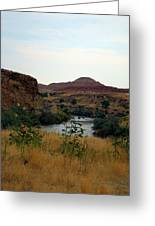 Beauty At The Big Horn River Greeting Card