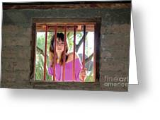 Beauty Beyond The Bars Greeting Card