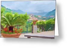 Beauty In Capri Greeting Card