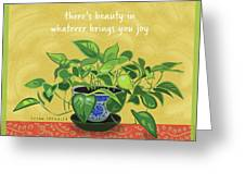 Beauty In Joy Greeting Card