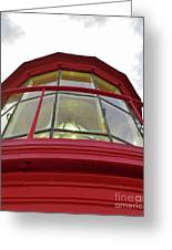 Beauty In The Lighthouse Lens Greeting Card