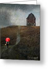 Beauty In The Silver Rain Greeting Card
