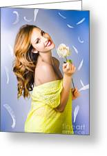 Beauty Of Romance Floating In The Summer Breeze Greeting Card