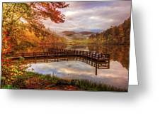Beauty Of The Lake In Autumn Deep Tones Greeting Card