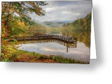 Beauty Of The Lake Oil Painting  Greeting Card