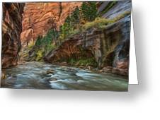 Beauty Of The Narrows Greeting Card