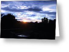 Somewhere The Sun Is Shining Greeting Card