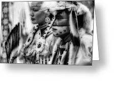 Pow Wow Beauty Of The Past Greeting Card