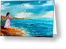 Beauty On The Shore Greeting Card