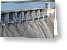 Beaver Dam Spillway Gates Greeting Card