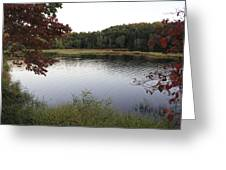 Beaver Lake With A Gentle Breeze Greeting Card