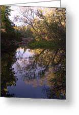 Beaver River Calm Reflection Greeting Card