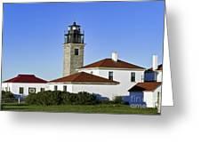 Beavertail Lighthouse Rhode Island Greeting Card