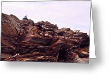 Beavertail Rock Formations Greeting Card