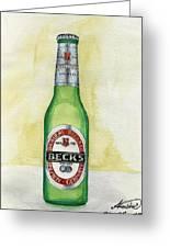 Becks Greeting Card