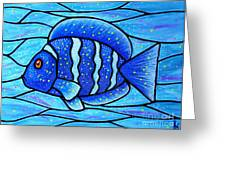 Beckys Blue Tropical Fish Greeting Card