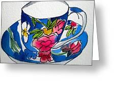 Becky's Teacup Greeting Card
