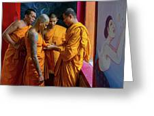 Becoming A Monk Greeting Card