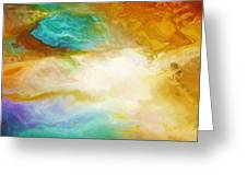 Becoming - Abstract Art - Triptych 2 Of 3 Greeting Card by Jaison Cianelli