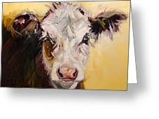 Bed Head Cow Greeting Card
