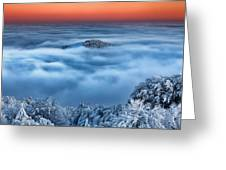 Bed Of Clouds Greeting Card