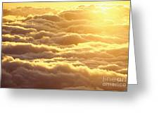 Bed Of Puffy Clouds Greeting Card