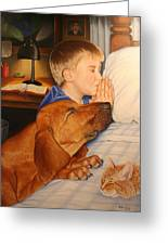 Bed Time Prayers Greeting Card by Mike Ivey