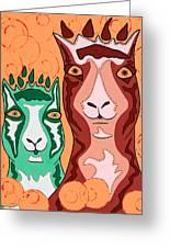 Bedazzled Llamas Greeting Card