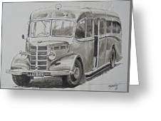 Bedford Ob Coach Of The Forties. Greeting Card