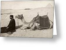 Bedouin At Prayer Greeting Card