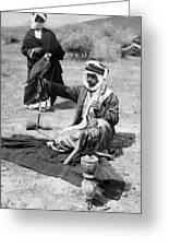 Bedouin Falconer, C1910 Greeting Card