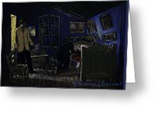 Bedroom In Arles By Night Greeting Card