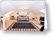Bedroom With Sloping Ceiling Greeting Card