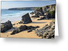 Bedruthan Steps, Cornwall Greeting Card
