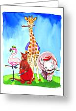 Bedtime Animals Greeting Card